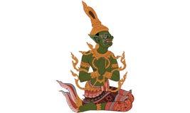 Ταϊλανδική παραδοσιακή ζωγραφική, δερματοστιξία, ραγισμένη ζωγραφική χρώματος απεικόνιση αποθεμάτων