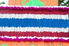 Ταϊλανδική σημαία σχεδίων του διακοσμητικού θυμιάματος στην παρέλαση Στοκ Φωτογραφίες