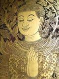 Ταϊλανδική τέχνη σε έναν ναό. Στοκ Φωτογραφία