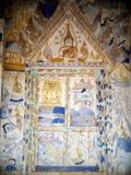 ΤΑΪΛΑΝΔΙΚΗ ESARN διάσημη μοναδική μύθου ζωγραφική νωπογραφίας ιστορίας mural Στοκ Φωτογραφία