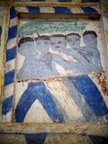 ΤΑΪΛΑΝΔΙΚΗ ESARN διάσημη μοναδική μύθου ζωγραφική νωπογραφίας ιστορίας mural Στοκ φωτογραφίες με δικαίωμα ελεύθερης χρήσης
