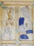 ΤΑΪΛΑΝΔΙΚΗ ESARN διάσημη μοναδική μύθου ζωγραφική νωπογραφίας ιστορίας mural Στοκ Φωτογραφίες