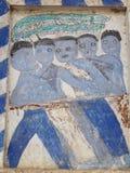 ΤΑΪΛΑΝΔΙΚΗ ESARN διάσημη μοναδική μύθου ζωγραφική νωπογραφίας ιστορίας mural Στοκ εικόνα με δικαίωμα ελεύθερης χρήσης