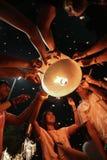 Ταϊλανδικοί εορτασμοί 2010 γενεθλίων βασιλιάδων Στοκ Εικόνες