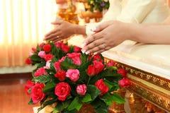 ταϊλανδικός γάμος τελετής στοκ εικόνες