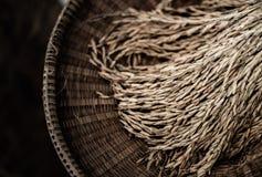 Ταϊλανδικός ορυζώνας ρυζιού wickerwork στοκ εικόνα
