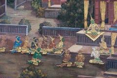 ταϊλανδικός παραδοσιακός ύφους ζωγραφικής Στοκ φωτογραφία με δικαίωμα ελεύθερης χρήσης