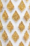 ταϊλανδικός παραδοσιακός ύφους προτύπων τέχνης templ Στοκ εικόνα με δικαίωμα ελεύθερης χρήσης
