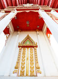 Ταϊλανδικό γλυπτό πορτών ναών Στοκ φωτογραφία με δικαίωμα ελεύθερης χρήσης