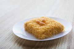 Ταϊλανδικό παραδοσιακό επιδόρπιο cusine από το λουρί foi κέικ λέκιθου Στοκ φωτογραφίες με δικαίωμα ελεύθερης χρήσης