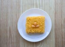 Ταϊλανδικό παραδοσιακό επιδόρπιο cusine από το λουρί foi κέικ λέκιθου Στοκ Εικόνες