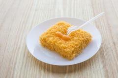 Ταϊλανδικό παραδοσιακό επιδόρπιο cusine από το λουρί foi κέικ λέκιθου Στοκ φωτογραφία με δικαίωμα ελεύθερης χρήσης