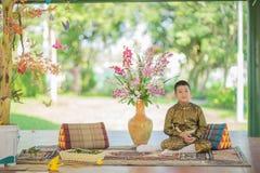 Ταϊλανδικό παραδοσιακό φόρεμα παιδιών Στοκ εικόνα με δικαίωμα ελεύθερης χρήσης