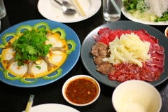 Ταϊλανδικό παραδοσιακό shabu αποκαλούμενο Jaew hon στοκ φωτογραφίες