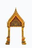 Ταϊλανδικό πλαίσιο πορτών που απομονώνεται Στοκ εικόνες με δικαίωμα ελεύθερης χρήσης