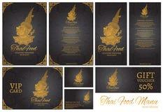ταϊλανδικό πρότυπο επιλογών εστιατορίων τροφίμων ταϊλανδικό υπόβαθρο παράδοσης Στοκ εικόνες με δικαίωμα ελεύθερης χρήσης