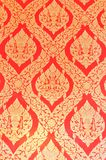 Ταϊλανδικό πρότυπο στον τοίχο Στοκ Εικόνα