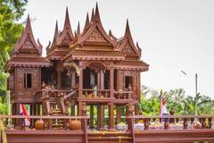 Ταϊλανδικό σχέδιο ύφους σπιτιών αρχαίο _ στοκ εικόνες