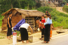 ταϊλανδικό χωριό σκηνής Στοκ φωτογραφία με δικαίωμα ελεύθερης χρήσης