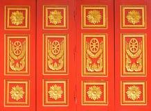 Ταϊλανδικό ύφος τέχνης ναών Windows Στοκ εικόνα με δικαίωμα ελεύθερης χρήσης