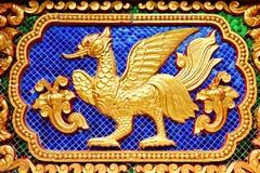 ταϊλανδικό zodiac τοίχων αγαλμάτων στοκ εικόνες