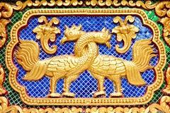 ταϊλανδικό zodiac τοίχων αγαλμάτων στοκ φωτογραφία
