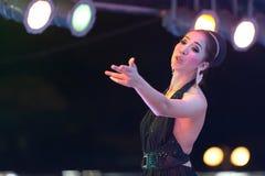 Ταϊλανδικός τραγουδιστής τραβεστί Στοκ Φωτογραφία