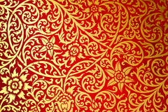 Ταϊλανδικό παλαιό ύφος προτύπων τέχνης ο τοίχος στο ναό Στοκ Εικόνες