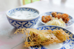 Ταϊλανδικό ρύζι τροφίμων στο ύδωρ πάγου Στοκ εικόνες με δικαίωμα ελεύθερης χρήσης