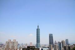 Ταϊπέι 101 από το βουνό Xiang στη Ταϊπέι, Ταϊβάν, ΡΟΚ Στοκ Εικόνα