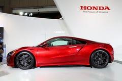 ΤΑΪΠΈΙ - 3 Ιανουαρίου: Η Honda NSX που παρουσιάζεται διεθνή σε αυτόματο της Ταϊπέι παρουσιάζει Στοκ εικόνα με δικαίωμα ελεύθερης χρήσης