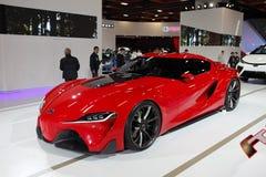 ΤΑΪΠΈΙ - 3 Ιανουαρίου: Σπορ αυτοκίνητο της TOYOTA FT1 που παρουσιάζεται στη Ταϊπέι Στοκ Εικόνες