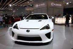 ΤΑΪΠΈΙ - 3 Ιανουαρίου: Το Lexus LFA που παρουσιάζεται διεθνή σε αυτόματο της Ταϊπέι παρουσιάζει στοκ φωτογραφίες με δικαίωμα ελεύθερης χρήσης