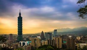 Ταϊπέι σε HDR, Ταϊβάν Στοκ Φωτογραφίες