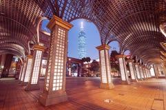Ταϊπέι τή νύχτα. (Ταϊβάν) Στοκ Εικόνες