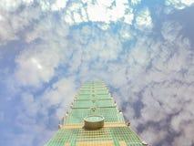 Ταϊπέι, Ταϊβάν - 22 Νοεμβρίου 2015: Ταϊπέι 101 πύργος, άποψη από Στοκ Εικόνα