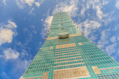 Ταϊπέι, Ταϊβάν - 22 Νοεμβρίου 2015: Ταϊπέι 101 πύργος, άποψη από Στοκ φωτογραφίες με δικαίωμα ελεύθερης χρήσης