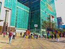 Ταϊπέι, Ταϊβάν - 22 Νοεμβρίου 2015: Ταϊπέι 101 πύργος, άποψη από Στοκ Εικόνες