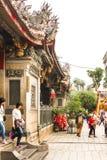 ΤΑΪΠΈΙ, ΤΑΪΒΑΝ - 22 Φεβρουαρίου 2016 διακοσμήστε το φανάρι σε Longshan στοκ εικόνες