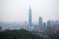 Ταϊπέι 101, το πιό ψηλό κτήριο Στοκ Εικόνα