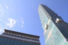Ταϊπέι 101, υψηλό κτήριο ανόδου στη Ταϊπέι, Ταϊβάν, ΡΟΚ Στοκ Φωτογραφία