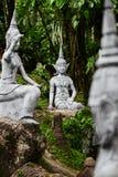 Ταϊλάνδη Μαγικά μυστικά αγάλματα κήπων του Βούδα σε Samui Ταξίδι, Τ Στοκ Εικόνες