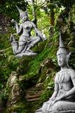 Ταϊλάνδη Μαγικά μυστικά αγάλματα κήπων του Βούδα σε Samui Ταξίδι, Τ Στοκ Φωτογραφία