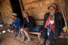 Ταϊλάνδη, μια ηλικιωμένη γυναίκα από την εθνική ομάδα Akha Στοκ εικόνα με δικαίωμα ελεύθερης χρήσης