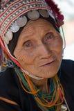 Ταϊλάνδη, μια ηλικιωμένη γυναίκα από την εθνική ομάδα Akha Στοκ Εικόνες
