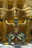 Ταϊλάνδη, Μπανγκόκ, ποιο Phra Kaew, πολεμιστής αγαλμάτων Στοκ Εικόνες