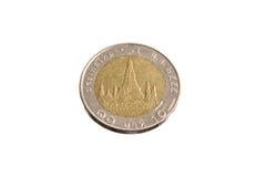 Ταϊλάνδη νομίσματα 10 μπατ πίσω Στοκ εικόνα με δικαίωμα ελεύθερης χρήσης