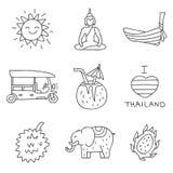Ταϊλάνδη τα εύκολα εικονίδια ανασκόπησης αντικαθιστούν το διαφανές διάνυσμα σκιών Στοκ φωτογραφίες με δικαίωμα ελεύθερης χρήσης