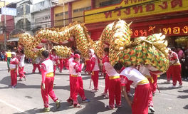 Ταϊλάνδη: Φεστιβάλ χορού δράκων στοκ εικόνα με δικαίωμα ελεύθερης χρήσης