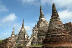 Ταϊλάνδη, Ayutthaya, παγόδες Στοκ Εικόνες